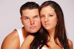 Chez l'homme et la femme d'amour Photo libre de droits