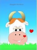 Chez la vache à amour Image stock