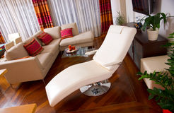 Chez lounge. In the modern living room interior royalty free stock photos
