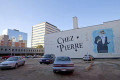 Chez Pierre, Edmonton, Canadá imagem de stock