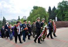 Chez Victory Monument pendant la célébration de Victory Day Images stock