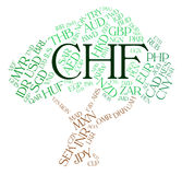 Chf Currency Indicates Swiss Franc And Coin Royalty Free Stock Photo