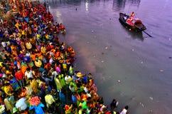 Chhat festival arkivbild