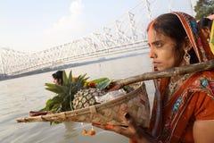 Chhath-Festival Stockbild
