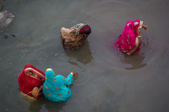 Chhath Puja Ganges India. Stock Photos