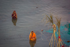 Chhath Puja Ganges India. stock images