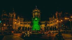 Chhatrapati shivajiändstation Mumbai Arkivfoto