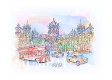Chhatrapati Shivaji stock illustrationer
