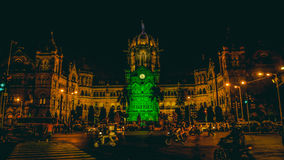 Chhatrapati-shivaji Endstation Mumbai Stockfoto