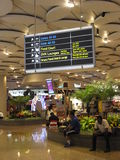 Chhatrapati Shivaji Maharaj International Airport in Mumbai, India. It is the second busiest airport in India after Delhi Stock Images