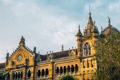 Chhatrapati Shivaji Maharaj Terminus, stacja kolejowa w Mumbai, India obraz royalty free