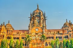 Chhatrapati Shivaji Maharaj Terminus, un site de patrimoine mondial de l'UNESCO dans Mumbai, Inde photos libres de droits