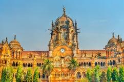 Chhatrapati Shivaji Maharaj Terminus, UNESCO światowego dziedzictwa miejsce w Mumbai, India zdjęcia royalty free