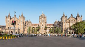 Chhatrapati Shivaji Terminus. (CST) is a UNESCO World Heritage Site and an historic railway station in Mumbai, India Royalty Free Stock Photos