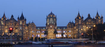 Chhatrapati Shivaji Terminus (CST) formerly Victoria Terminus in Mumbai. Chhatrapati Shivaji Terminus (CST) formerly Victoria Terminus in Mumbai, India is a Royalty Free Stock Image