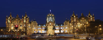 Chhatrapati Shivaji Terminus (CST) formerly Victoria Terminus in Mumbai. Stock Photo