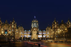Chhatrapati Shivaji Terminus (CST) formerly Victoria Terminus in Mumbai. Stock Photography