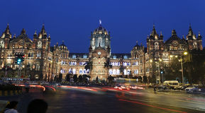 Chhatrapati Shivaji Terminus (CST) formerly Victoria Terminus in Mumbai. Royalty Free Stock Photography