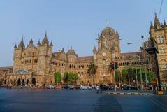 Chhatrapati Shivaji Terminus CST jest UNESCO światowym dziedzictwem Si zdjęcia stock