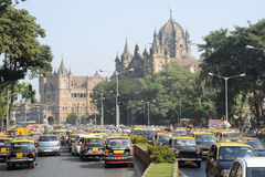 Chhatrapati Shivaji Terminus formerly Victoria station at Mumbai Royalty Free Stock Photography