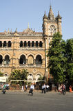Chhatrapati Shivaji Terminus formerly Victoria station at Mumbai Royalty Free Stock Images