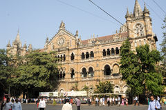 Chhatrapati Shivaji Terminus formerly Victoria station at Mumbai Stock Photo
