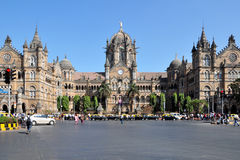 Chhatrapati Shivaji Terminus. Formerly Victoria Terminus is a UNESCO World Heritage Site and historic railway station which serves as the headquarters of the Stock Photo