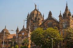 Chhatrapati Shivaji Terminus früher Victoria Terminus in Mumbai, Indien lizenzfreies stockbild