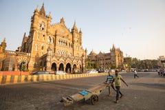 Chhatrapati Shivaji Terminus Railway Station Royalty Free Stock Photography