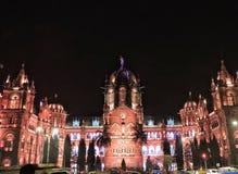 Chhatrapati Shivaji Terminus stacja kolejowa zdjęcie royalty free