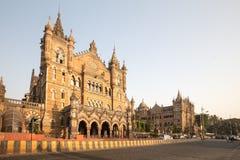 Chhatrapati Shivaji Terminus stacja kolejowa obraz stock