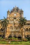 Chhatrapati Shivaji Terminus stacja kolejowa lub Wiktoria Terminus w Mumbai obrazy royalty free
