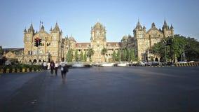 Chhatrapati Shivaji Terminus timelapse stock footage