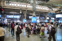 Chhatrapati Shivaji Terminus w Mumbai, India zdjęcia royalty free