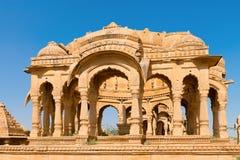 Royal cenotaphs, Bada Bagh, India Royalty Free Stock Photography