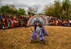 Chhau-Tanz von Indien stockfoto