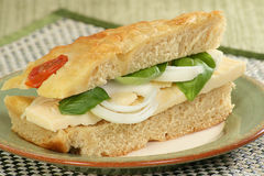 Chhese and onion focaccia sandwich Stock Photography