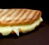 Chhese y pan plano del derretimiento de la cebolla Fotografía de archivo