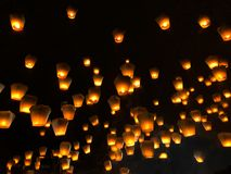 Chińscy lampiony podczas latarniowego festiwalu zdjęcia stock