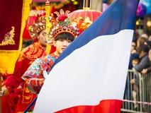 Chińska nowy rok świętowań parada przy Paryż zdjęcie royalty free