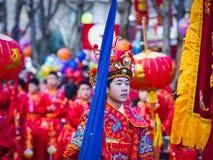 Chińska nowy rok świętowań parada przy Paryż fotografia royalty free