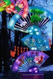 Chiński lampionu fan zdjęcia stock
