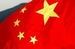 chińczycy flagę Obraz Royalty Free
