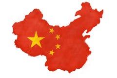 chińczycy flagę Zdjęcie Royalty Free