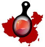 chińczycy flagę Zdjęcie Stock