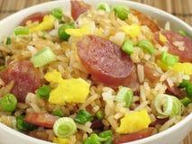 chińczycy smażonej kiełbasa ryżu Zdjęcie Royalty Free