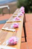 Chińczyków fan i różani paddles Obraz Royalty Free