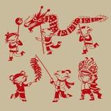 Chińczyk żartuje świętować nowego roku przybycie royalty ilustracja