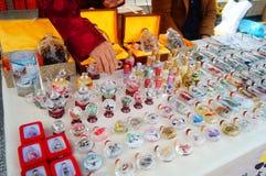 Chińczyk cechy rzemioseł tabaki butelki obrazy royalty free