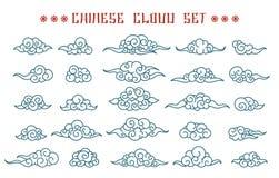 Chińczyk chmury ustawiać royalty ilustracja